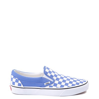 Main view of Vans Slip On Checkerboard Skate Shoe - Ultramarine Blue