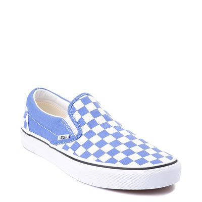 Alternate view of Vans Slip On Checkerboard Skate Shoe - Ultramarine Blue