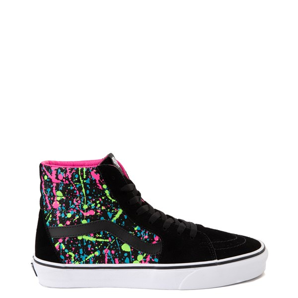 Default view of Vans Sk8 Hi Paint Splatter Skate Shoe - Black / Multi
