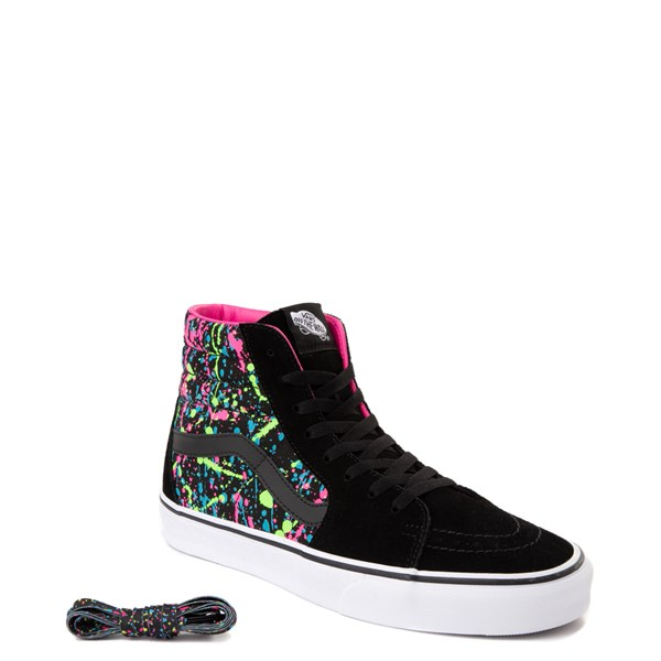 alternate view Vans Sk8 Hi Paint Splatter Skate Shoe - Black / MultiALT1