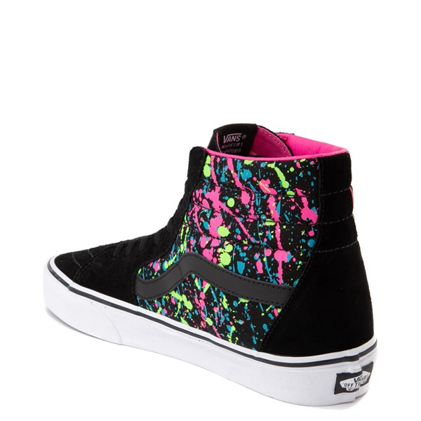 alternate view Vans Sk8 Hi Paint Splatter Skate Shoe - Black / MultiALT2
