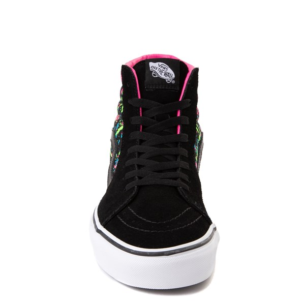 alternate view Vans Sk8 Hi Paint Splatter Skate Shoe - Black / MultiALT4