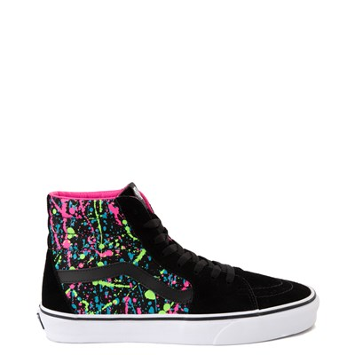 Main view of Vans Sk8 Hi Paint Splatter Skate Shoe - Black / Multi