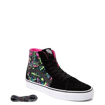 Alternate view of Vans Sk8 Hi Paint Splatter Skate Shoe - Black / Multi