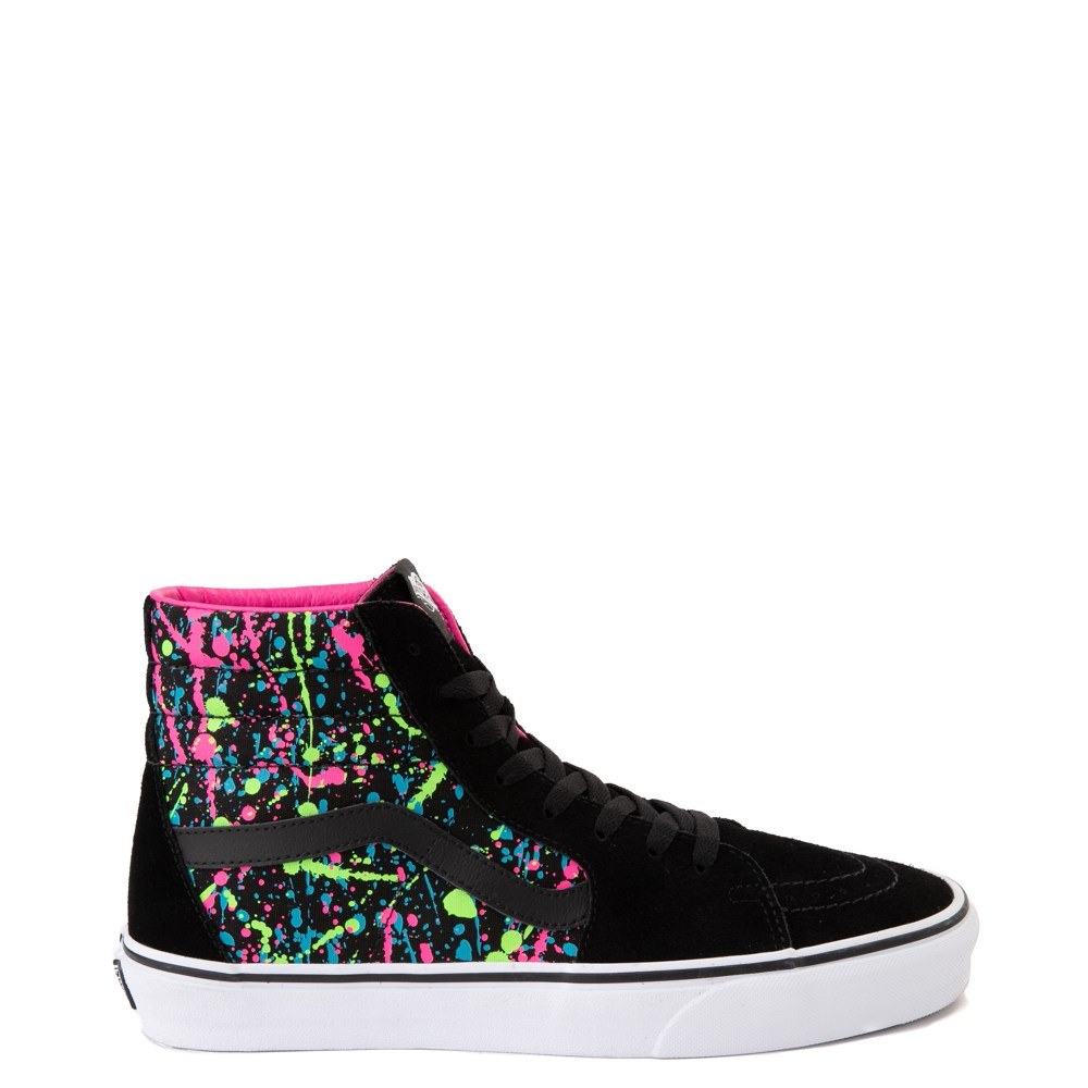 Vans Sk8 Hi Paint Splatter Skate Shoe - Black / Multi
