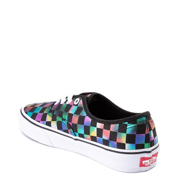 alternate view Vans Authentic Iridescent Checkerboard Skate Shoe - Black / MultiALT2