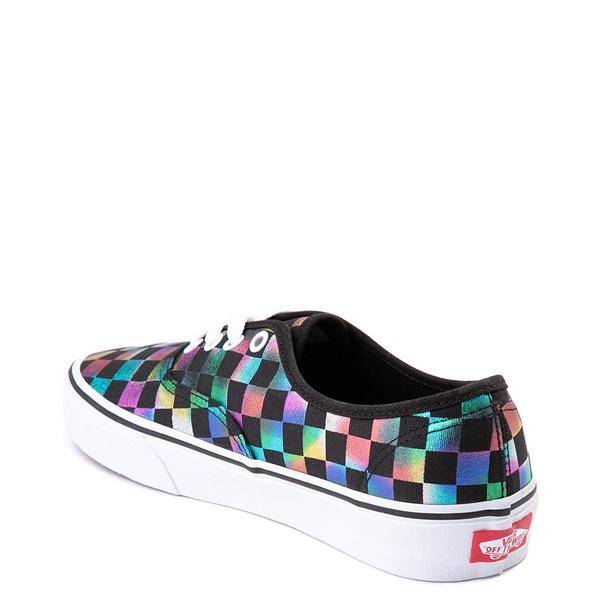 alternate view Vans Authentic Iridescent Checkerboard Skate Shoe - Black / MultiALT2