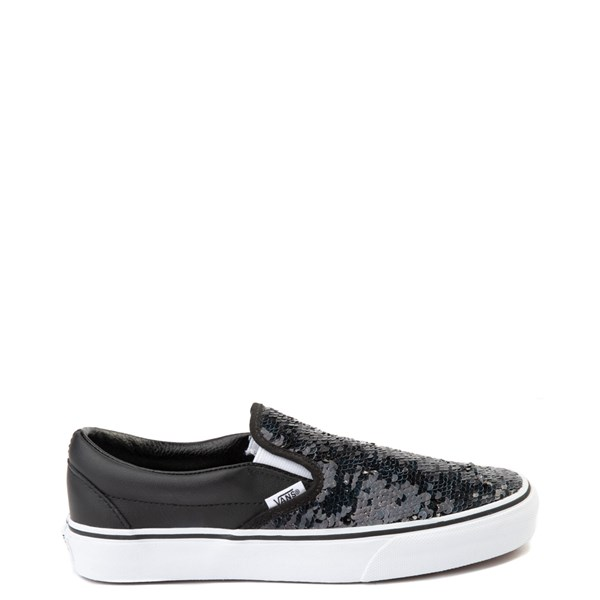 Main view of Vans Slip On Flipping Sequins Skate Shoe - Black