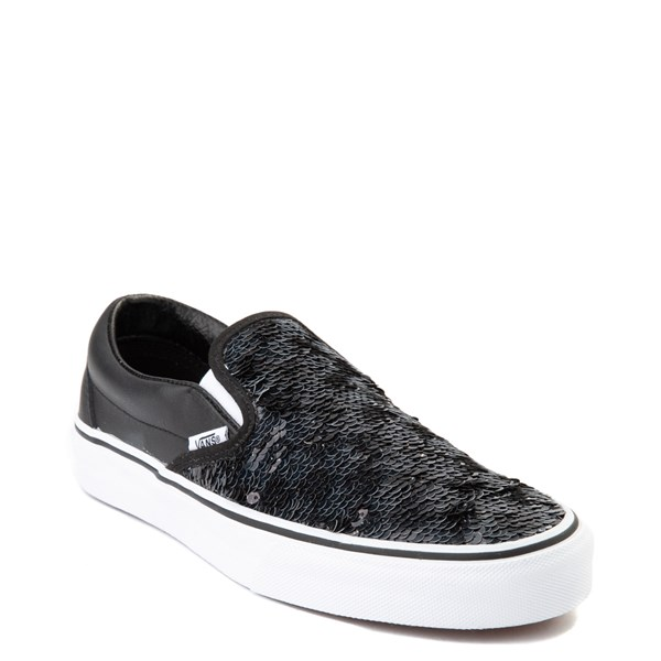 alternate view Vans Slip On Flipping Sequins Skate Shoe - BlackALT1B
