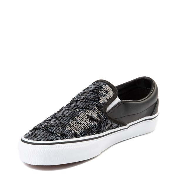 alternate view Vans Slip On Flipping Sequins Skate Shoe - BlackALT3