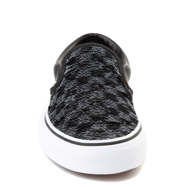 alternate view Vans Slip On Flipping Sequins Skate Shoe - BlackALT4
