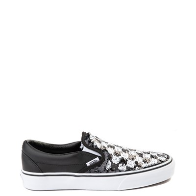 Alternate view of Vans Slip On Flipping Sequins Skate Shoe - Black