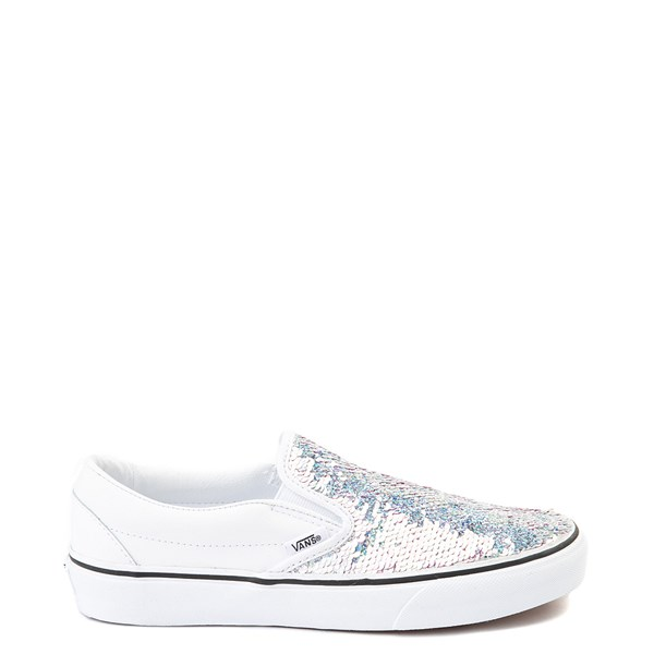 Default view of Vans Slip On Flipping Sequins Skate Shoe - White