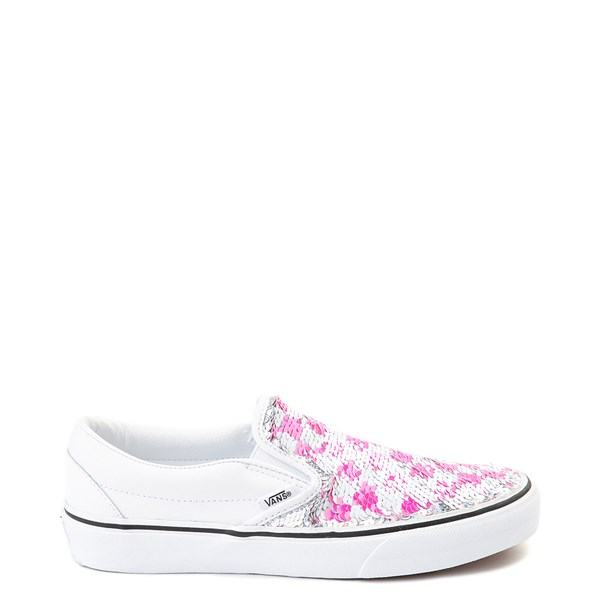 alternate view Vans Slip On Flipping Sequins Skate Shoe - WhiteALT1