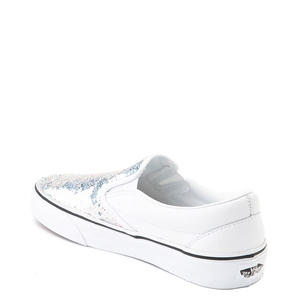 alternate view Vans Slip On Flipping Sequins Skate Shoe - WhiteALT2