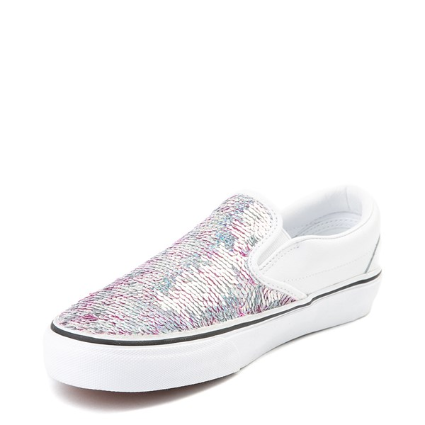 alternate view Vans Slip On Flipping Sequins Skate Shoe - WhiteALT3