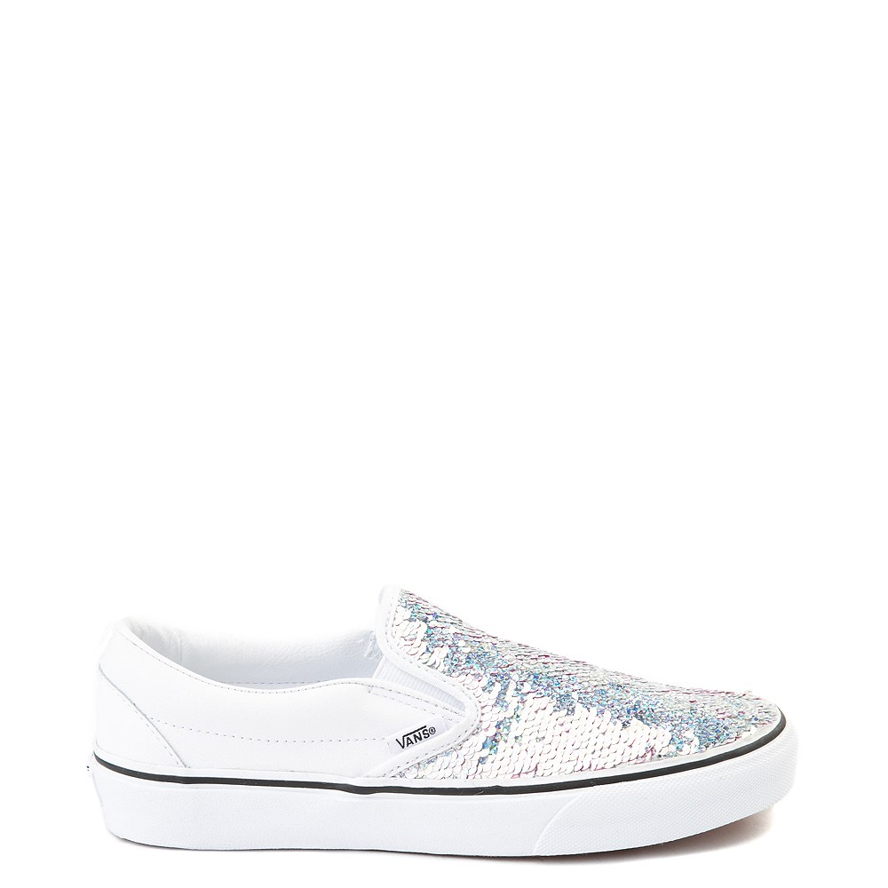 Vans Slip On Flipping Sequins Skate Shoe - White