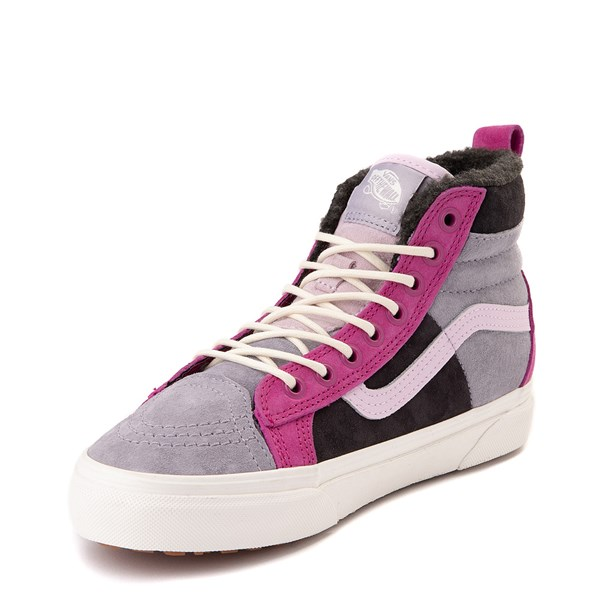 alternate view Vans Sk8 Hi 46 MTE DX Skate Shoe - Lilac Gray / ObsidianALT3