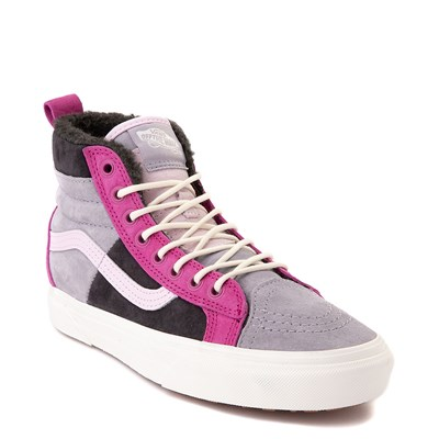 Alternate view of Vans Sk8 Hi 46 MTE DX Skate Shoe - Lilac Gray / Obsidian