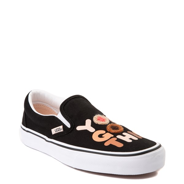 "Alternate view of Vans Slip On Breast Cancer Awareness ""You Got This"" Skate Shoe - Black"