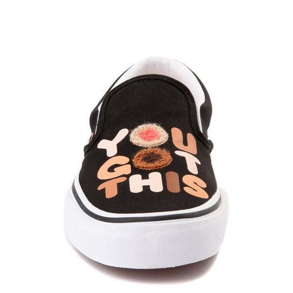 """alternate view Vans Slip On Breast Cancer Awareness """"You Got This"""" Skate Shoe - BlackALT4"""