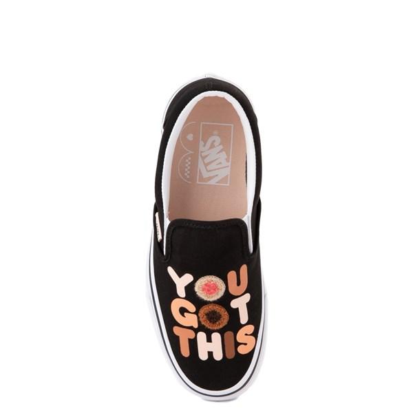 """alternate view Vans Slip On Breast Cancer Awareness """"You Got This"""" Skate Shoe - BlackALT5"""