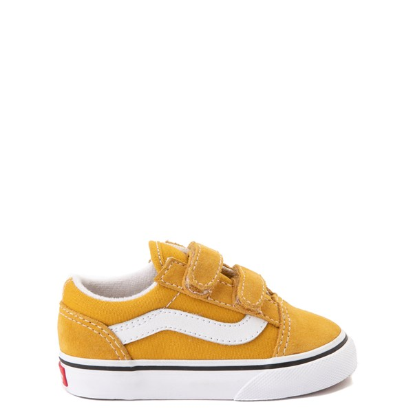 Vans Old Skool V Skate Shoe - Baby / Toddler - Yellow / White