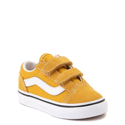 Alternate view of Vans Old Skool V Skate Shoe - Baby / Toddler - Yellow / White