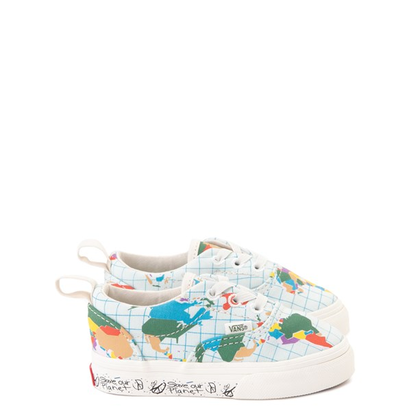 "Default view of Vans Era ""Save Our Planet"" Skate Shoe - Baby / Toddler - White / Multi"