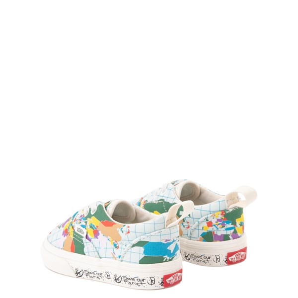 "alternate view Vans Era ""Save Our Planet"" Skate Shoe - Baby / Toddler - White / MultiALT2"