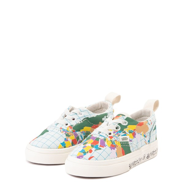 "alternate view Vans Era ""Save Our Planet"" Skate Shoe - Baby / Toddler - White / MultiALT3"