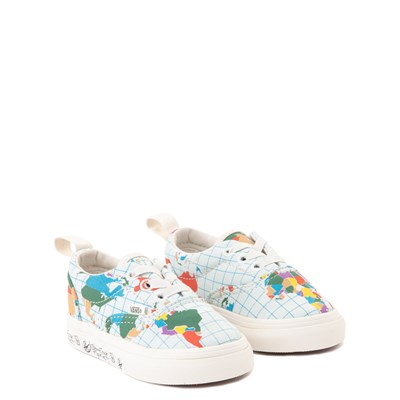 "Alternate view of Vans Era ""Save Our Planet"" Skate Shoe - Baby / Toddler - White / Multi"