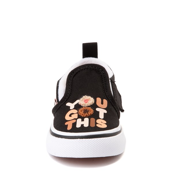 "alternate view Vans Slip On Breast Cancer Awareness ""You Got This"" Skate Shoe - Baby / Toddler - BlackALT4"