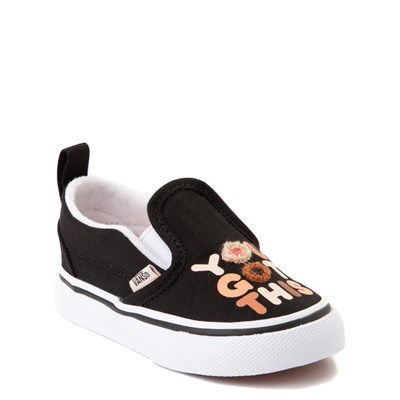"Alternate view of Vans Slip On Breast Cancer Awareness ""You Got This"" Skate Shoe - Baby / Toddler - Black"