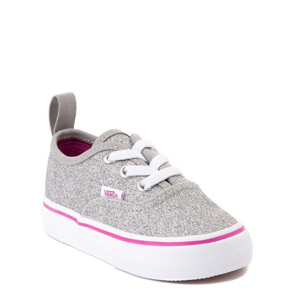 Alternate view of Vans Authentic Glitter Skate Shoe - Baby / Toddler - Silver