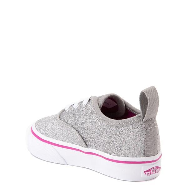 alternate view Vans Authentic Glitter Skate Shoe - Baby / Toddler - SilverALT2
