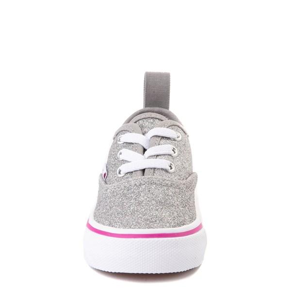 alternate view Vans Authentic Glitter Skate Shoe - Baby / Toddler - SilverALT4
