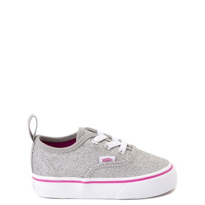 Main view of Vans Authentic Glitter Skate Shoe - Baby / Toddler - Silver