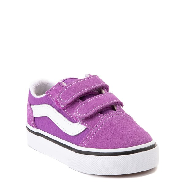 Alternate view of Vans Old Skool V Skate Shoe - Baby / Toddler - Dewberry Purple