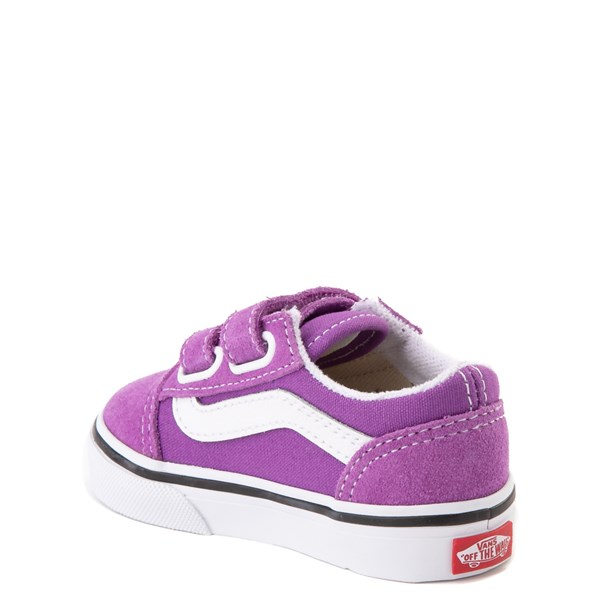 alternate view Vans Old Skool V Skate Shoe - Baby / Toddler - Dewberry PurpleALT2