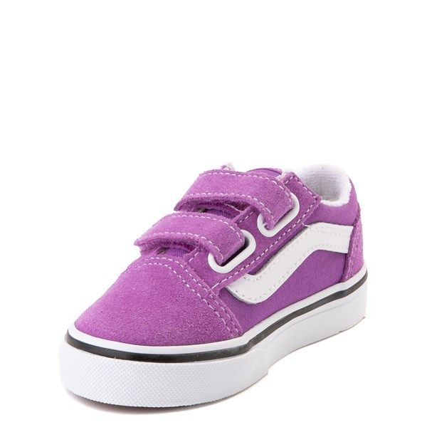alternate view Vans Old Skool V Skate Shoe - Baby / Toddler - Dewberry PurpleALT3