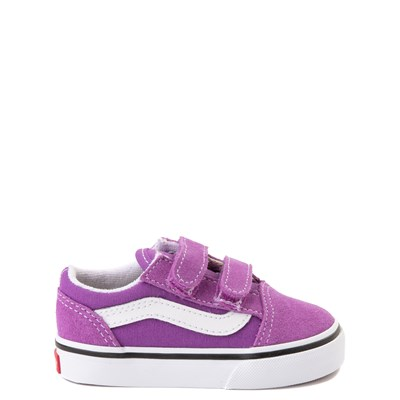 Main view of Vans Old Skool V Skate Shoe - Baby / Toddler - Dewberry Purple