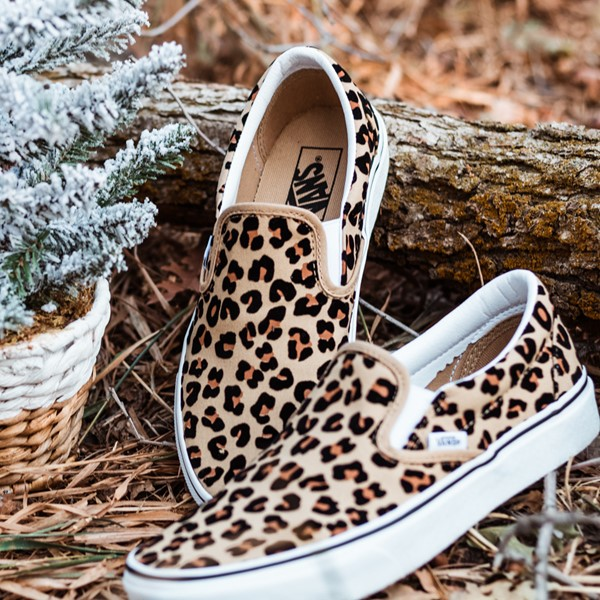 alternate view Vans Slip On Skate Shoe - LeopardALT1B