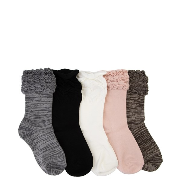 Ruffle Ruche Crew Socks 5 Pack - Girls Little Kid