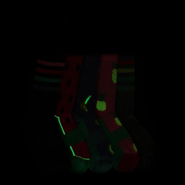 alternate view Fruity Glow Socks 5 Pack - Girls Big KidALT1