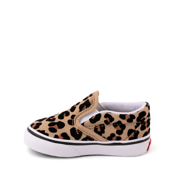 alternate view Vans Slip On Skate Shoe - Baby / Toddler - LeopardALT1