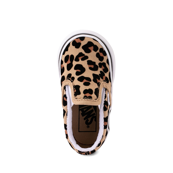 alternate view Vans Slip On Skate Shoe - Baby / Toddler - LeopardALT2