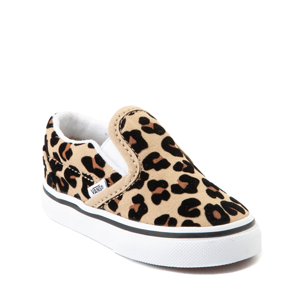 alternate view Vans Slip On Skate Shoe - Baby / Toddler - LeopardALT5