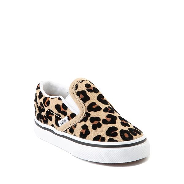 alternate view Vans Slip On Skate Shoe - Baby / Toddler - LeopardALT5