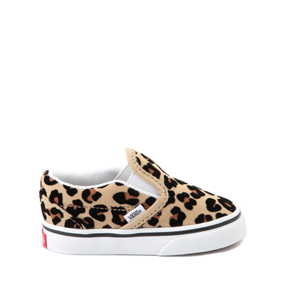 Main view of Vans Slip On Skate Shoe - Baby / Toddler - Leopard